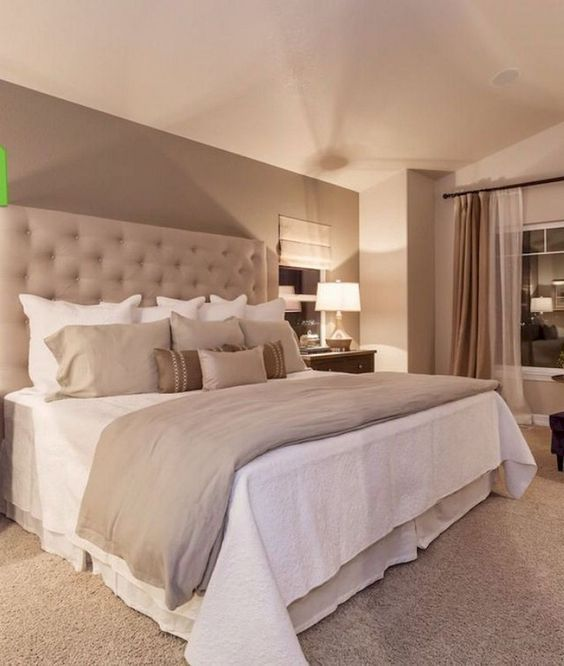 16 Elegant Beige Bedroom Decor Ideas Inspiredeccor Small Master Bedroom Remodel Bedroom Luxury Bedroom Design