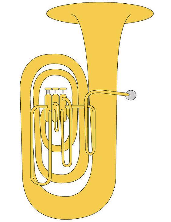 Clip Art Tuba Clipart tuba clip art illustration for music students band instrument illustration