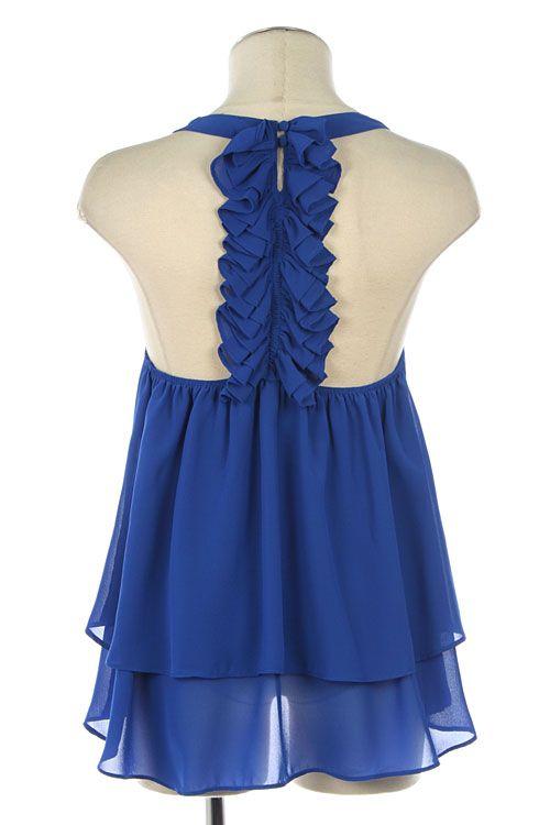 Kiki La'Rue - It's All Behind You Top - Royal Blue , $42.00 (http://www.kikilarue.com/its-all-behind-you-top-royal-blue/)