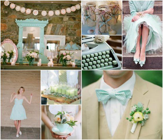 Mint Grün & Blush Pink Hochzeit
