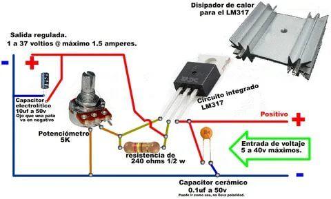 подключение вентилятора на лм 317 2 тыс изображений найдено в яндекс картинках En 2021 Regulador De Voltaje Electronics Projects Electrónica
