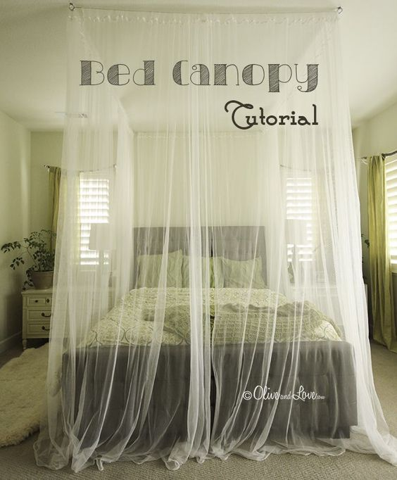 How To Make A Ceiling Bed Canopy Tutorial Diy Canopy
