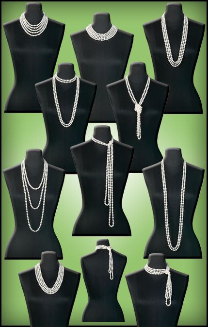 The many ways a 1920s girl can wear her pearls. #Beading #Jewelry #Tutorials
