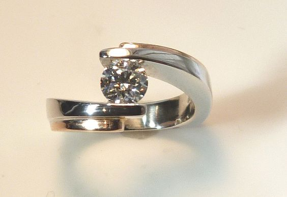Beautiful Engagement Ring with White and Rose Gold  www.troyshoppejewellers.com