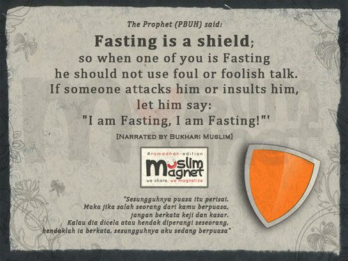 Fasting is a shield…