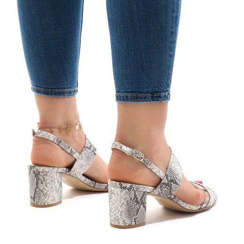Wezowe Sandaly Na Slupku Zamsz S 7346 Biale Womens Sandals High Heel Sandals Heels