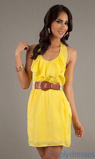 Dresses Formal Prom Dresses Evening Wear: Short Casual Halter ...