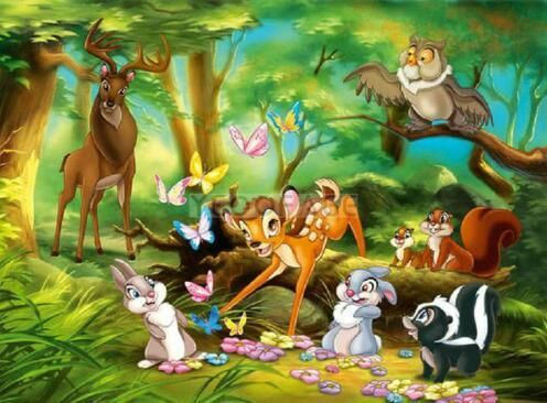 New Bambi and Friends in the Forest Diamond Painting Kit | Bambi disney,  Cartoon wallpaper, Cartoon