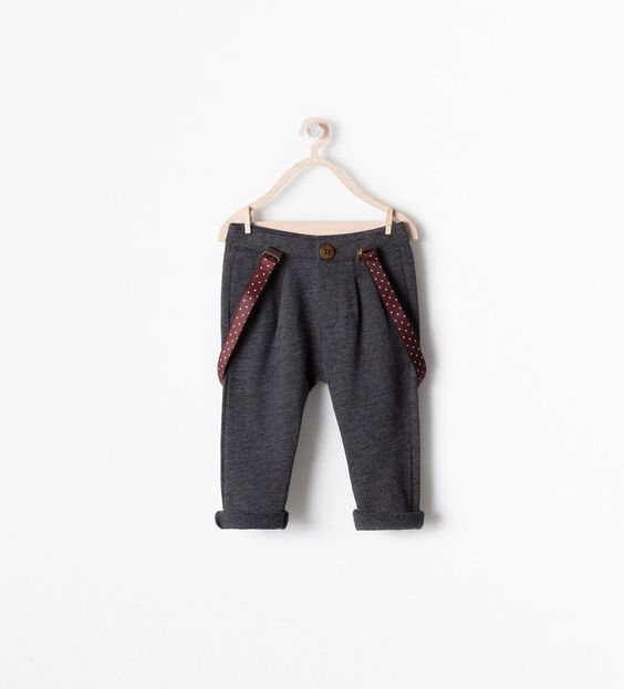 PLEATED TROUSERS WITH BRACES-Trousers-Baby boy (3 months - 3 years)-KIDS | ZARA United States