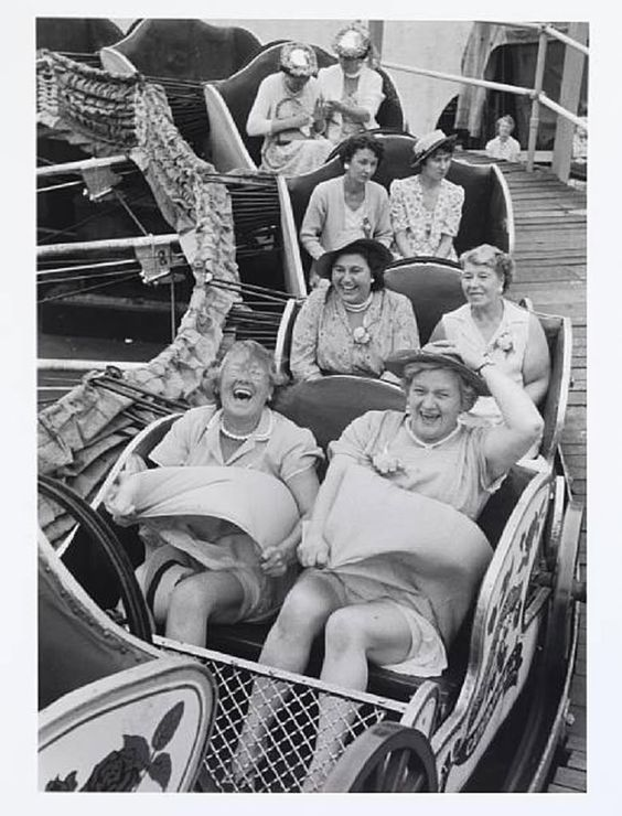 Girls having fun on the seaside rollercoaster.  Photography by Grace Robertson!
