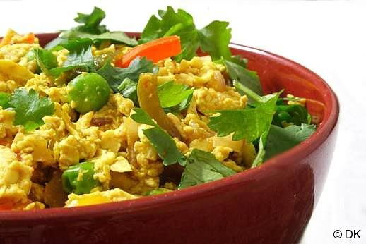 Tofu Bhurji - scrambled tofu with Indian spices and veggies from the ...