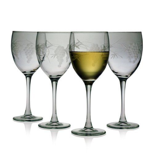 Susquehanna Glass Sonoma Pattern 10-1/2-Ounce White Wine Glass, Set of 4 by Susquehanna Glass. $45.49. Sonoma pattern 10-1/2-ounce white wine, set of 4. Made from lead-free material. Innovative sand etching and hand cutting techniques produce quality designed glassware. Dishwasher-safe; made in USA. Hand cut glassware. This set of 4, White Wine, Sonoma Grape pattern is hand cut by the skilled artisans of Susquehanna Glass for over one hundred years. Accent your home bar colle...