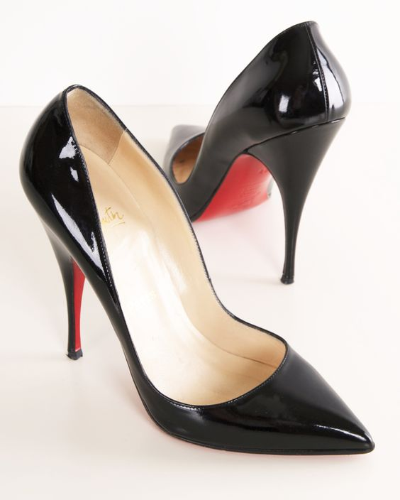 louboutin shoe price - CHRISTIAN LOUBOUTIN HEELS. You just can't beat a pointy toe, black ...