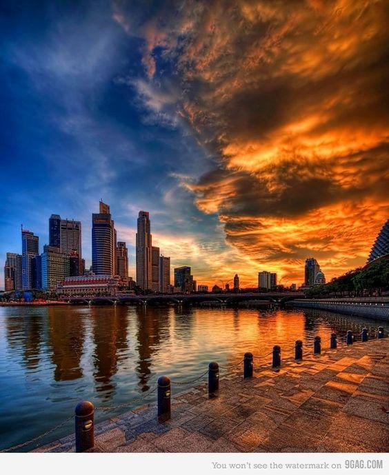 Sunset in Singapore :)