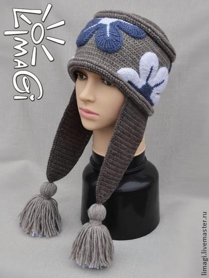 """Шапочка """"Василиса"""" - описание - шапка вязаная, шапка женская, шапка для девочки:"""