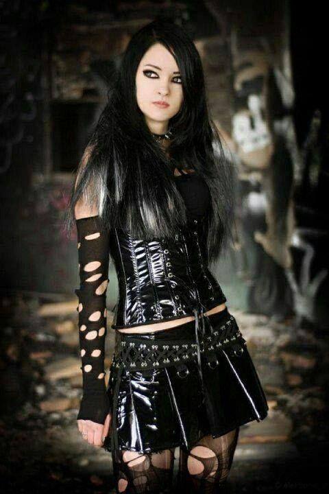 Punk goth girl