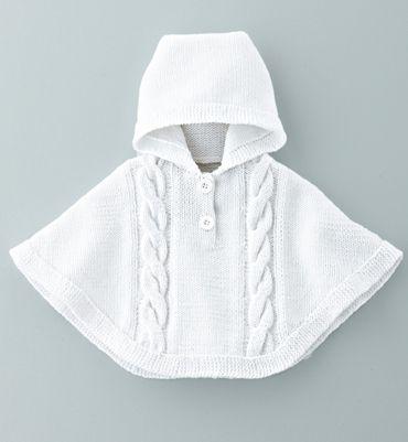 patron tricot poncho bebe