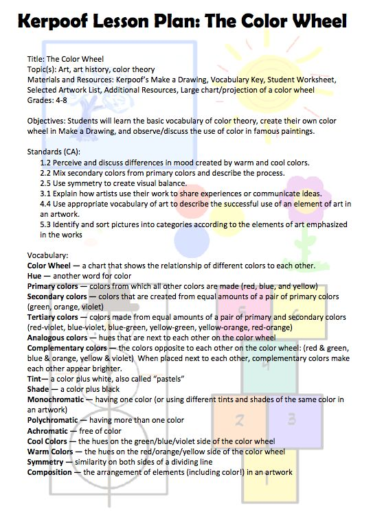 Color Wheel Worksheet – Color Theory Worksheet