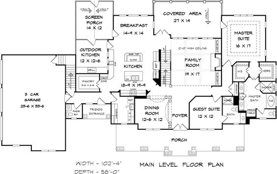 Country craftsman farmhouse southern traditional house for Country craftsman house plans
