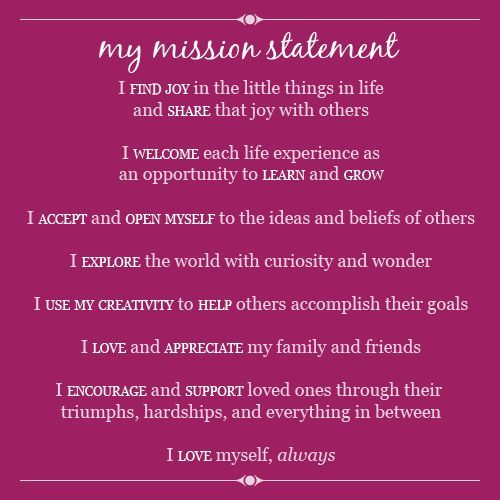 My Mission Statement Personal Quote Example Of Vision A Student