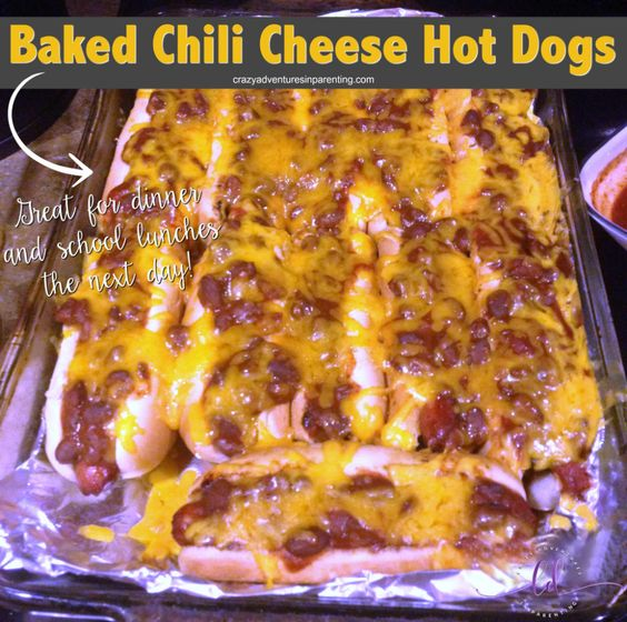 Easy Chili Cheese Hot Dogs for Dinner (and Lunch the Next Day!)
