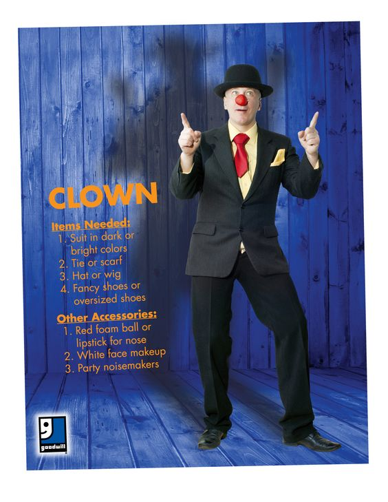Are you ready for Halloween? A clown is such an easy DIY costume that you can throw together with items from your closet or a trip to Goodwill!