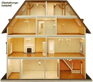 Puppenstube...very good idea, how to divide rooms differently than normally :-)