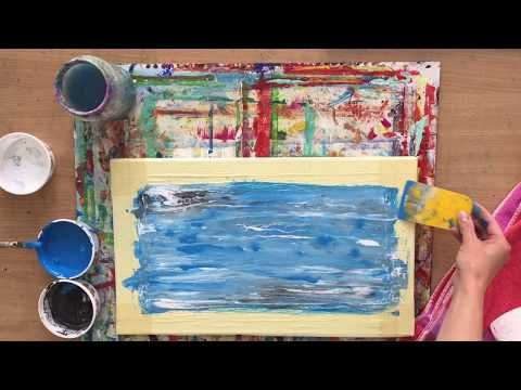 Wasser Meer Malen Abstract Water Painting Tutorial Acryl