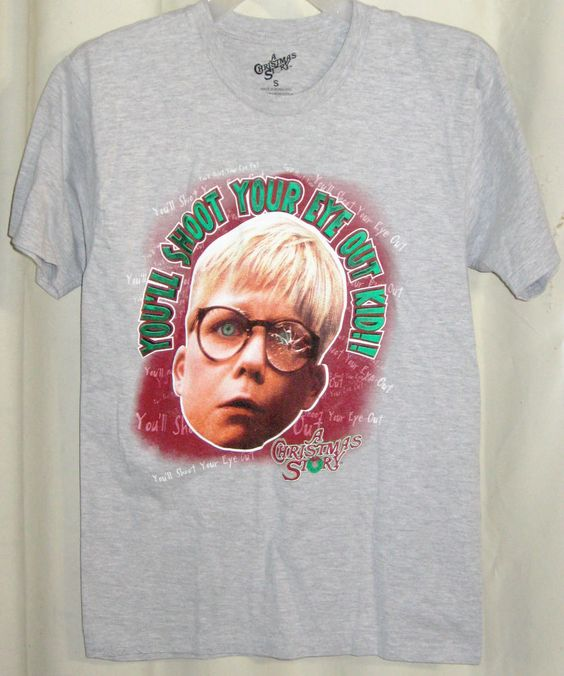 "FREE U.S. Shipping! A Christmas Story ""You'll Shoot Your Eye Out"" Shirt! Adult S"