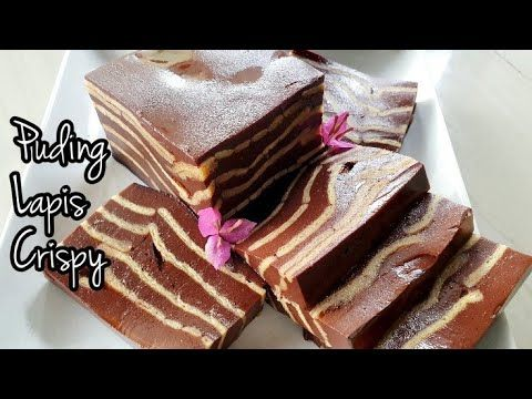 Resep Puding Lapis Crispy Crackers Youtube Puding Coklat Puding Resep