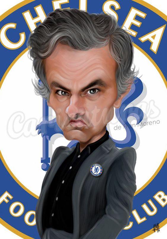 Caricatura de José Mourinho.