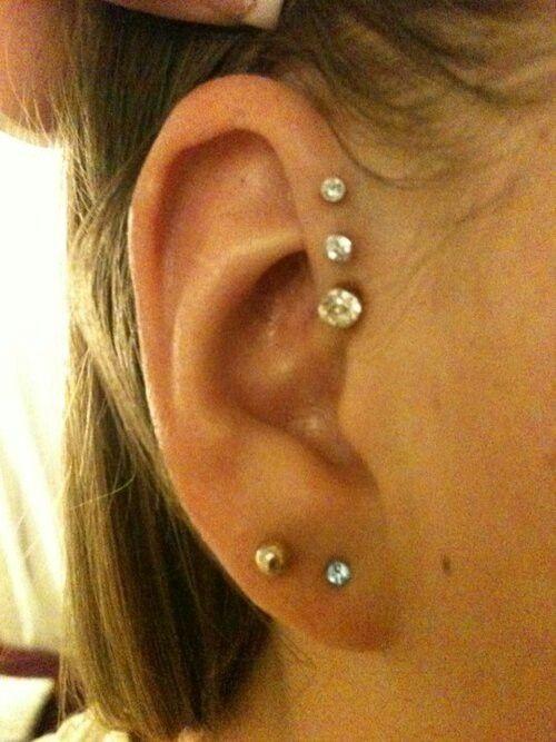 Ear Piercing Ideas For Women cute ear piercing ear piercings and ... Ear Piercings Cartilage