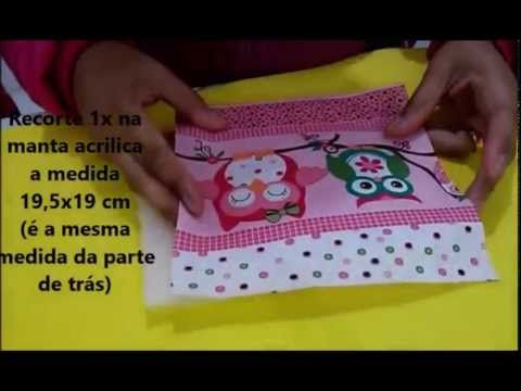 DIY Porta documentos do bebe - Artesanato - YouTube