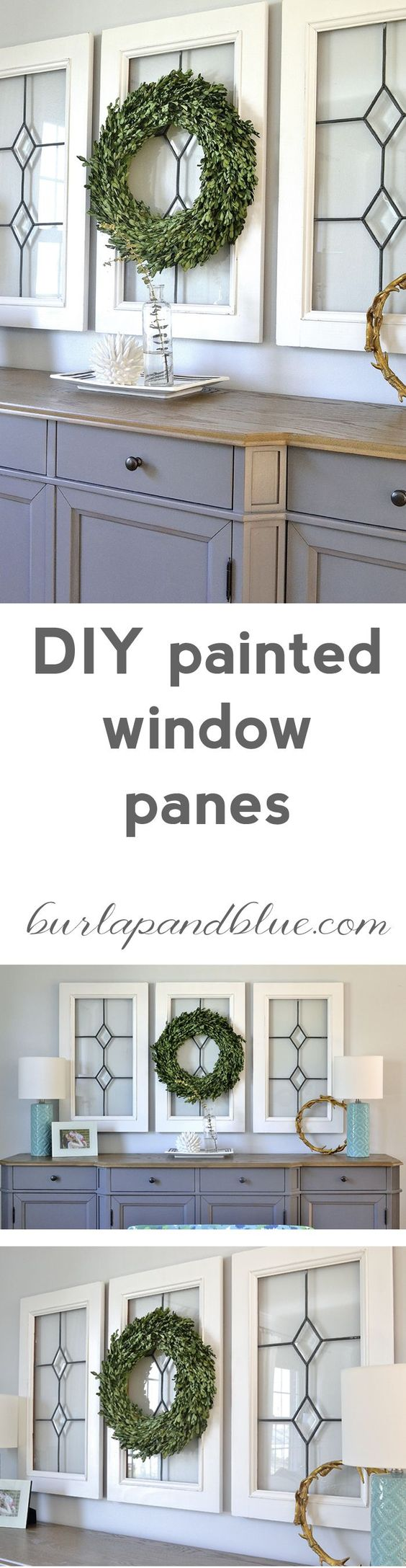 If you love the Fixer-Upper look, check out these DIY painted window panes!