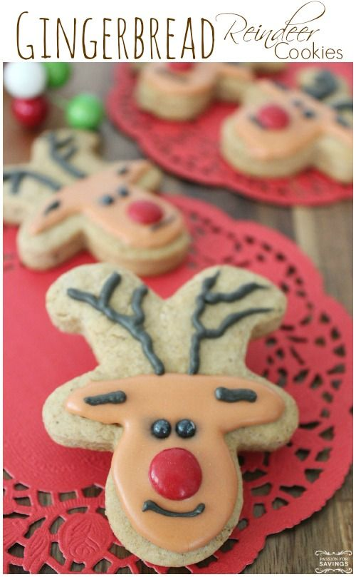 Easy Gingerbread Reindeer Cookies! FUN Christmas Treat and Kid ...
