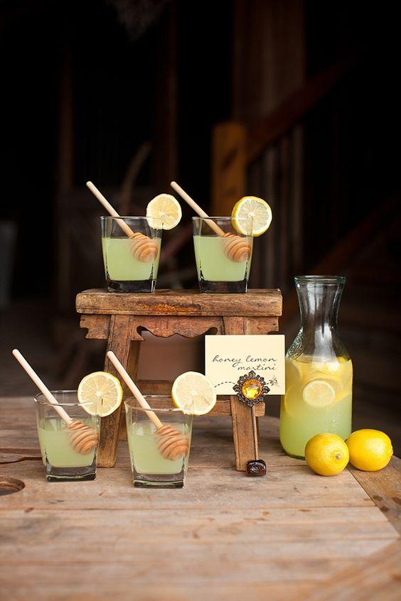 Honey Lemon Martinis