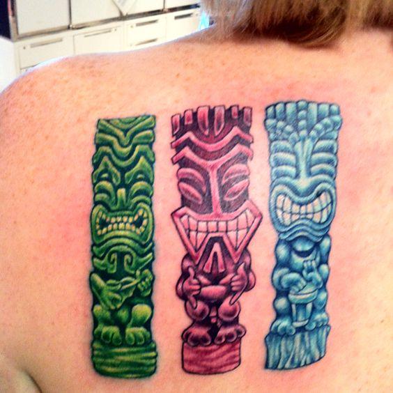 new tiki tattoo tiki tattoos for tof pinterest. Black Bedroom Furniture Sets. Home Design Ideas