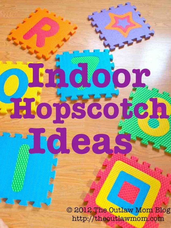 {Play} Eight Indoor Hopscotch Activities - good for the active preschoolers and during winter months