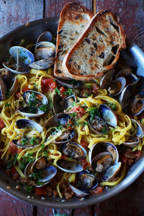 Linguine with Clams and Chorizo | Clams, Chorizo and Linguine