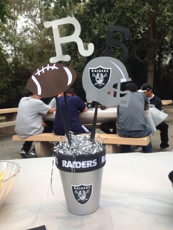 Oakland Raiders Centerpiece