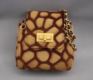 Chanel Giraffe Print Evening Bag