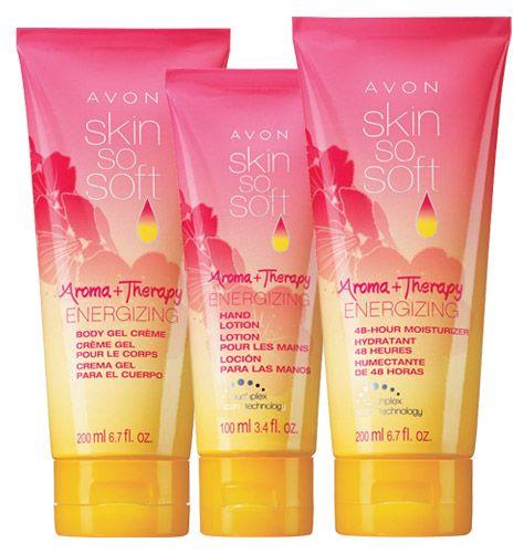 Avon: SKIN SO SOFT Aroma + Therapy 3-Piece Energizing Collection www.desireeruelas.com