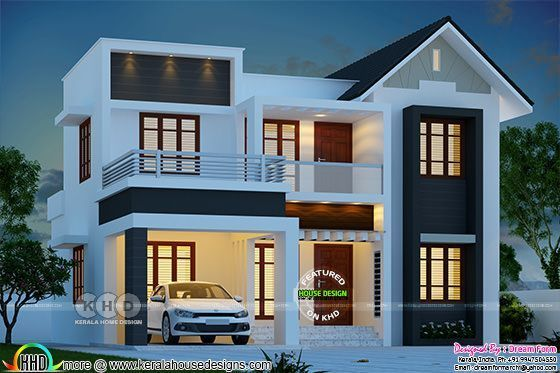 4 Bedroom 1780 Sq Ft Modern Home Design House Roof Design Kerala House Design Modern House Design