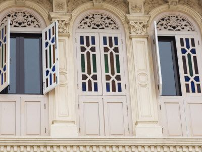Shutters and Windows in Chinatown, Singapore, Southeast Asia, Asia
