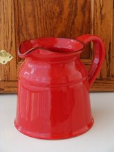 On our March 2015 cover: Red Ceramic Pitcher from Home Decor for Your Style