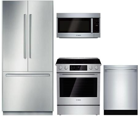 4 Piece Kitchen Appliances Package With B36bt830ns 36 French Door