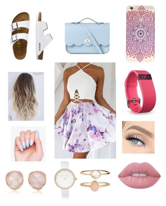 """""""summer fashion"""" by leylajune on Polyvore featuring TravelSmith, The Cambridge Satchel Company, Fitbit, Lime Crime, Accessorize, River Island and Monica Vinader"""