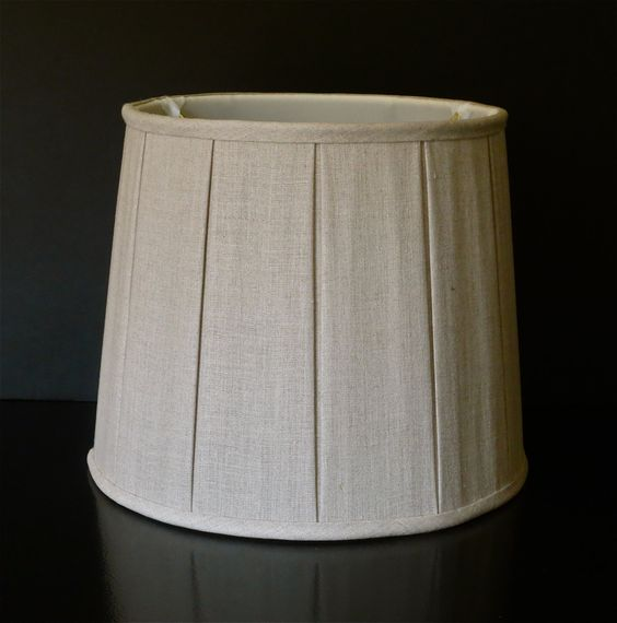 Linen Drum Lampshade by Lampshadesetc on Etsy