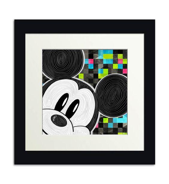 Mickey Pop arte de la pared  12 x 12  Print por GigiPistoneDesign, $12.00