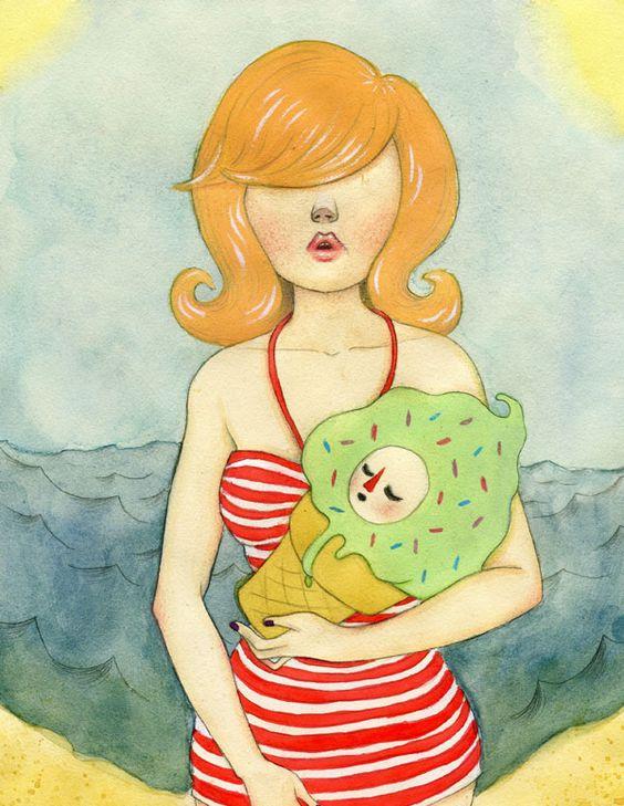 """Beach baby"" by wishcandy"